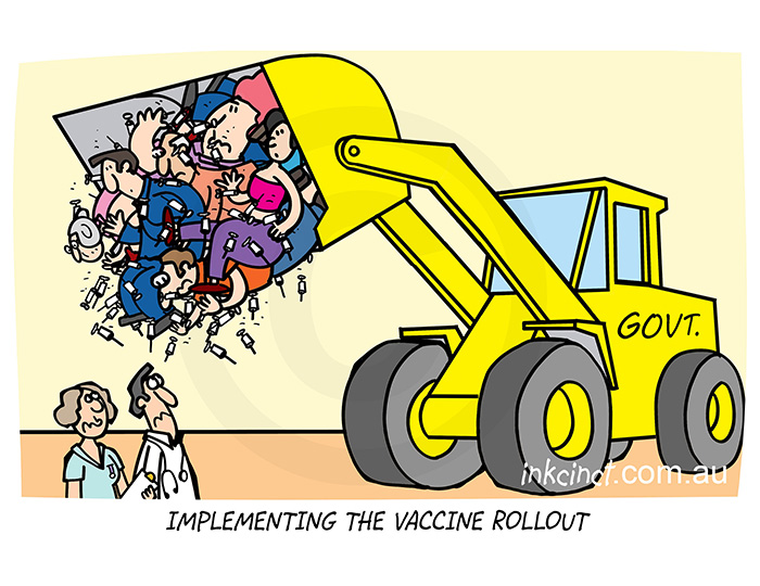 2021-105P Implementing the vaccine rollout, government - AUSTRALIA BALLARAT 18th March