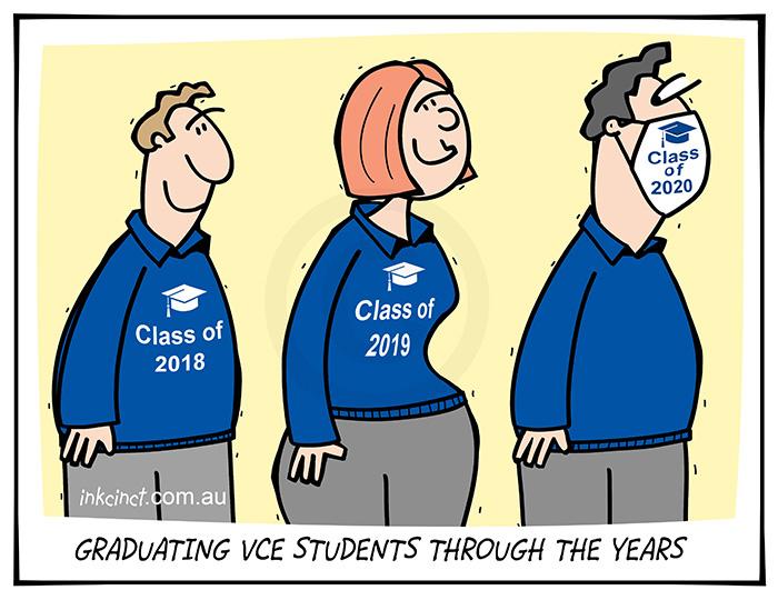 2021-003 Graduating VCE students through the year - VICTORIA BALLARAT 4th January