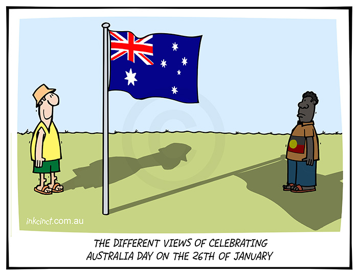 2021-023 The different views of celebrating Australia Day on the 26th of January - SOCIAL ABORIGINAL AUSTRALIA 20th January