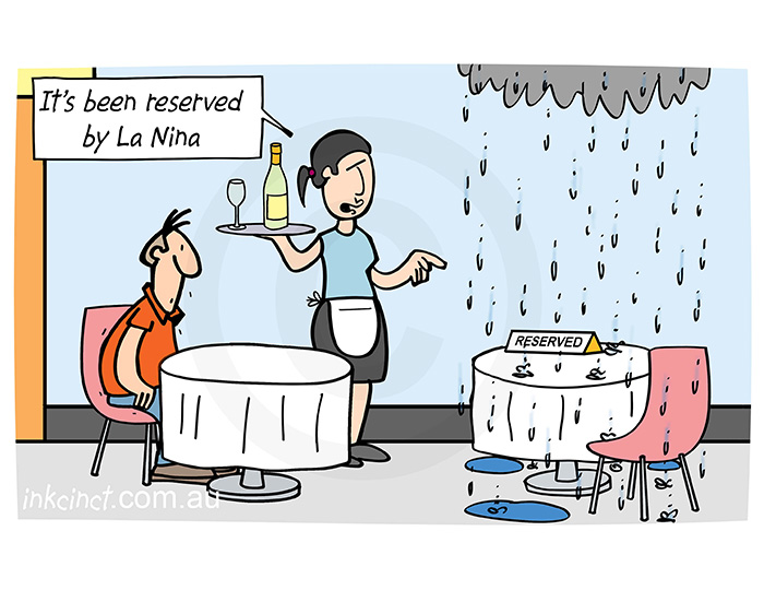 2021-055P It has been reserved by La Nina, rain outdoor dinning - AUSTRALIA BALLARAT ROCHELLE 11th February
