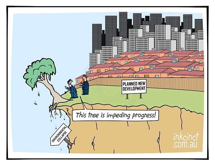 2021-137 THIS TREE IS IMPEDING PROGRESS, cliff global warming - ENVIRONMENT WORLD 22nd April copy