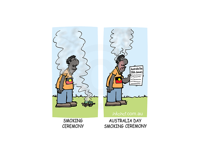 2019-042P Australia day smoking ceremony - ABORIGINAL BALLARAT 24th January