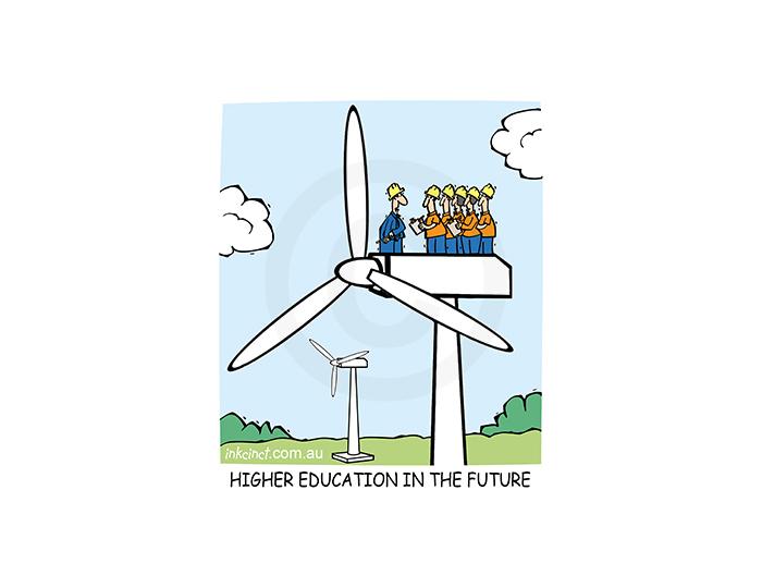 2019-071P Higher education in the future, wind farm turbine. 11th February