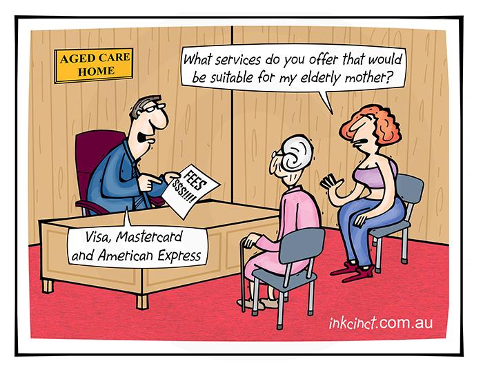 2019-301 Aged care home profits, Visa Mastercard American Express - SOCIAL HEALTH AUSTRALIA 19th July