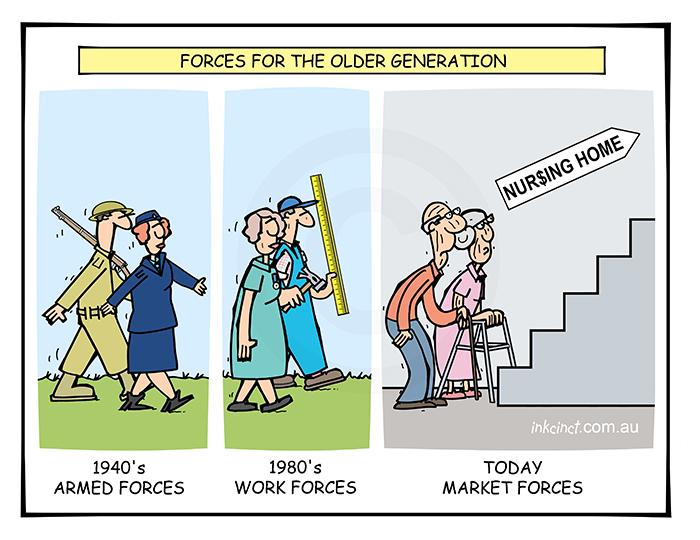 2019-439 Forces for the older generation, armed market work nursing home - SOCIAL AUSTRALIA 14th November