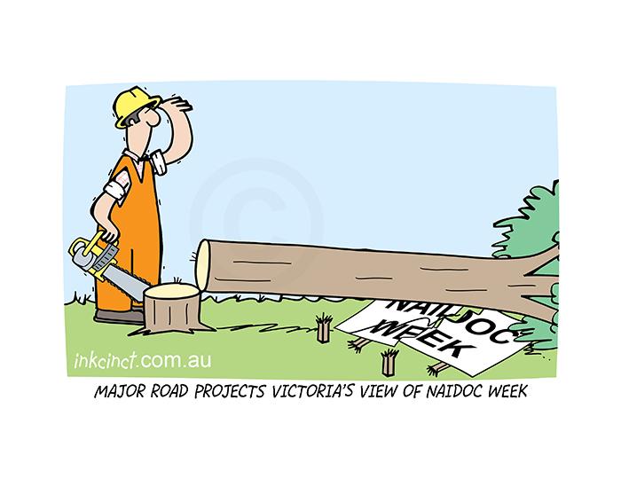 2020-379P Major Road Projects Victoria view of NAIDOC week. 10th November copy