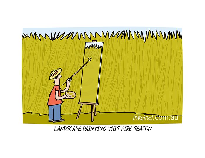 2020-415P Landscape painting this fire season. 8th December copy