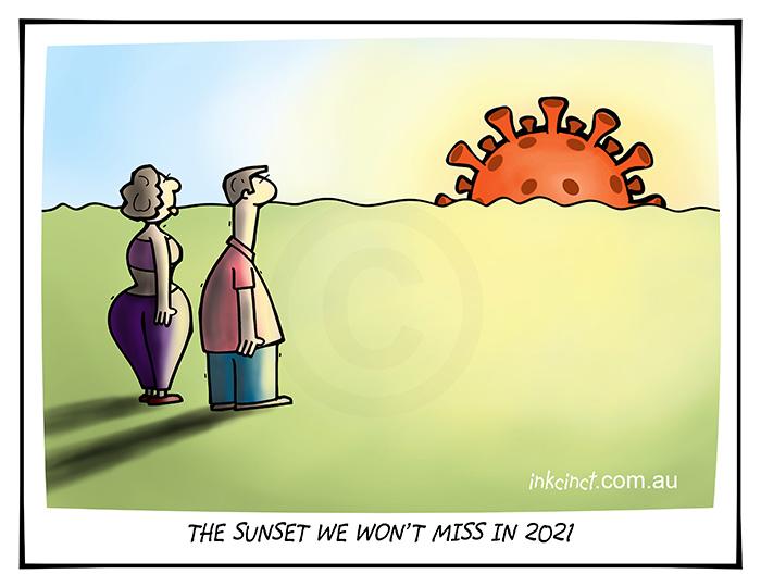2020-425 Sunset we will not miss, coronavirus - AUSTRALIA WORLD BALLARAT 15th December