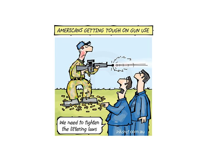 2018-094P Getting tough on gun use in America, littering control - AMERICA 27th February