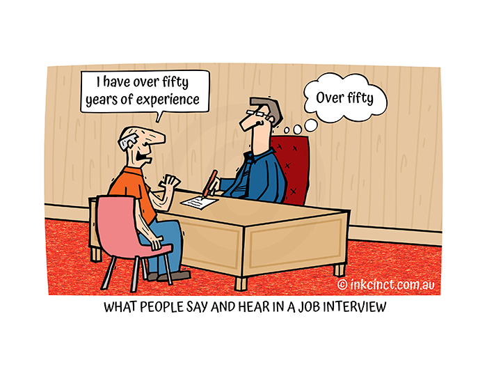 2021-228P What people say and hear in a job interview, AGEISM  12-Jul-21