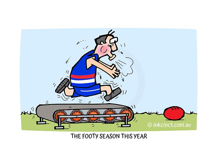 2021-235P The footy season this year, AFL FOOTBALL COVID-19 19th July
