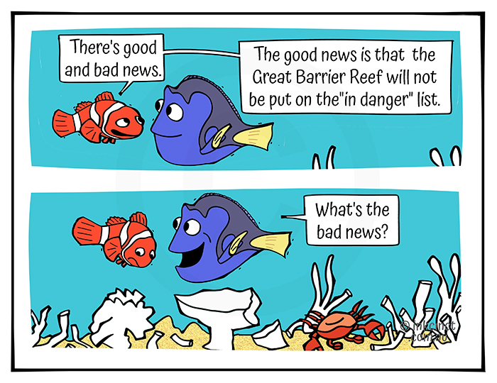 2021-246 Good and bad news about the Great Barrier Reef WORLD HERITAGE COMMITTEE – MSC 24-Jul-21
