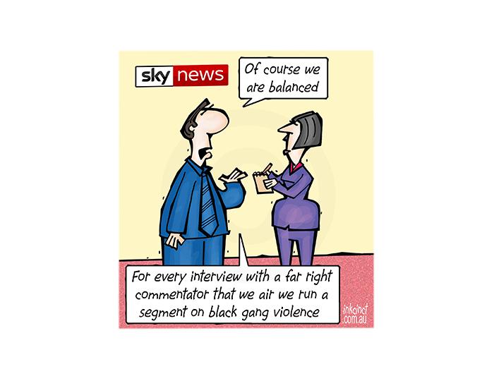2018-359P Sky News balanced coverage, black right wing - MEDIA SOCIAL AUSTRALIA 9th July