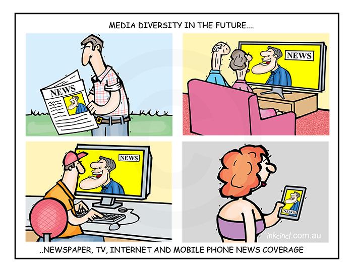 2018-497P Media diversity in the future, TV computer mobile phone newspaper - SOCIAL AUSTRALIA 19th November