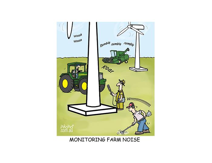 2018-515P Monitoring farm noise, wind farms turbines - RURAL AUSTRALIA 29th November