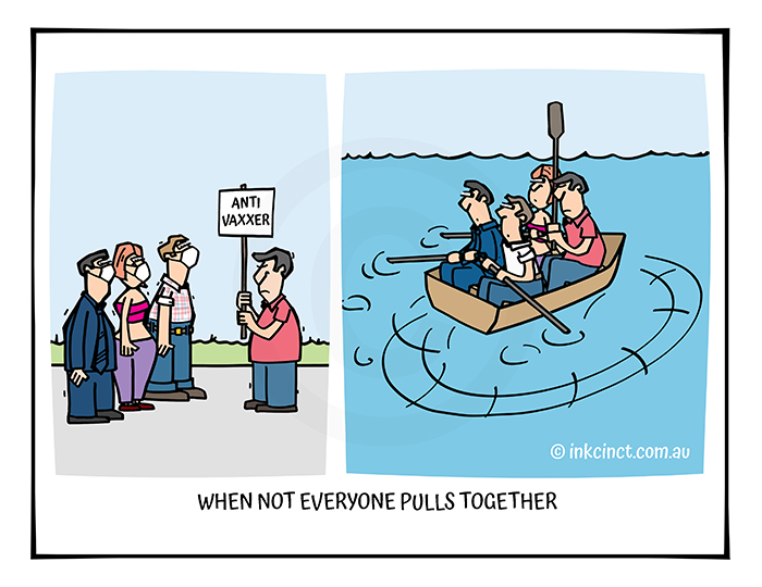 2021-300B2 When not everyone pulls together, COVID ROWING - MSC BALLARAT 30-Aug-21