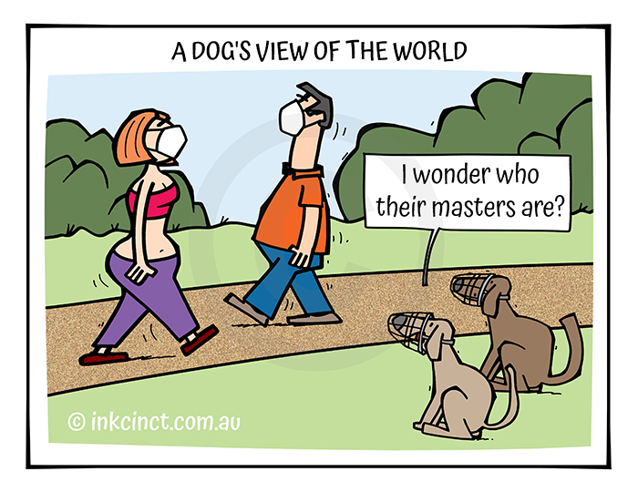 2021-354 A dogs view of the world, FACEMASKS COVID PANDEMIC 06-Oct-21